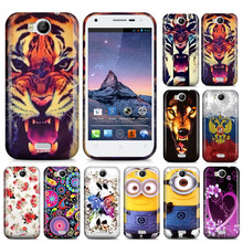 Stylish TPU Printing Gel Case For Wiko Cink Peax Soft Silicon Case Skin Cover Bags