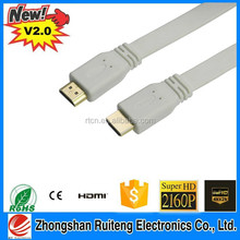 19pin flat hdmi cable 1.4v , hdmi to dv cable with metal plug , male to male hdmi cable support set-top box smartphone laptop