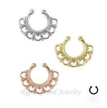 Nose Body Jewelry Gold Plated 14G Septum Indian Body Jewelry