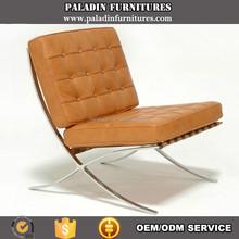 Brown genuine leather Barcelona Chair Replica