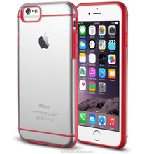 Amazing binding double color line tpu back cover case for iphone 6