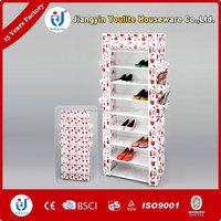 design fabric shoe rack closet organizer