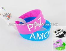 fashion pretty printing silicone bracelet for gift