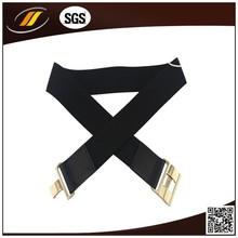 Woman Skinny Blacke Elastic Stretch Belt For Dress