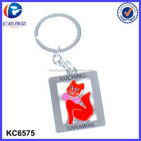 Malaysia tourism souvenirs lucky cat metal keychains wholesale