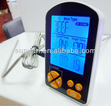 Digital cooking thermometer wit timer/alert/LCD for BBQ/Barbecue/Kitchen/cooking/Grilling
