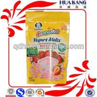 bag design oem round hole punching plastic bag for snack