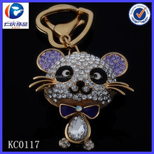 2015 China Professional Wholesales 3D Rhineston Cat Key Chain
