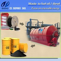 High tech waste tyre recycling pyrolysis machine to sell high waste tyre oil price