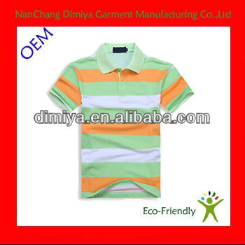 Ucuz çizgili polo gömlekleri/pamuk karışımı spandex polo t shirt rahat/mens kısa kollu polo t shirt