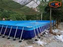 Customized Water entertainment Above Ground Steel frame inflatable aqua swimming pool