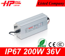 Aluminum box new design factory price led switch power constant voltage single output 12v 17 amperes led driver 200 watt