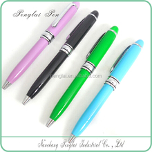 2015 New Colorful Small Size Short pen colorful Metal Twist Mini ball Pen