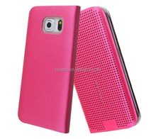 new fashionable APP Dot View Smart Cover Case for samsung galaxy s5 s6 /s6 edg edge