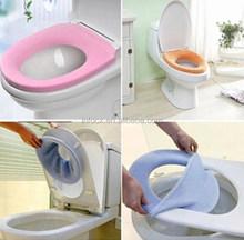 Bathroom Warmer Toilet Washable Cloth Seat Cover Pads / toilet Washable seat cover / warm toilet seat cushion