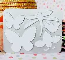 butterfly shape custom sheet metal die cutting stencil for paper craft