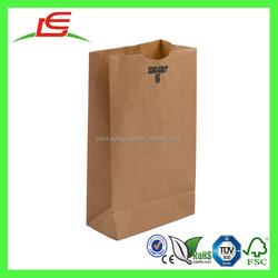 J364 Takeaway Food Bag Custom Foldable Brown Paper Bag