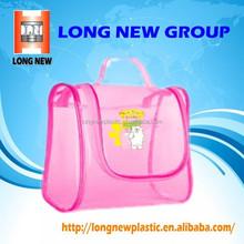 E Hot Sale fashion clear vinyl travel cosmetic bag