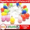 CE RoHS plastic led christmas bulb string light Holiday lighting festive Christmas decorate round bulb christmas light