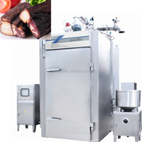 industrial chicken smokehouse oven/smokehouse oven for making smoked fish,chicken,meat,sausage,pork,salami,food