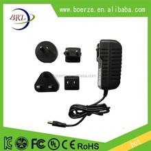AU UK US EU changeable plug adapter 12v 1a 2a 3a power adapter
