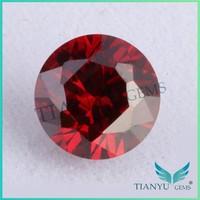 Hotsale dark garnet round shape cubic zircon stone fashion jewelry loose gemstone akik stone