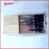 Fashion Design Drawer Style 7 PCS Knife Set Kitchen Tool With Scissors And Chopping Block