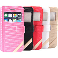 For iphone 6 4.7 inch flip leather case with smart wake and sleep
