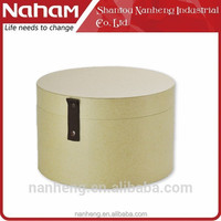 naham eco-friendly Natural style round lid hat box