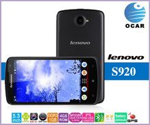 New Original Lenovo S920 Android 4.2 MTK6589 Quad Core 1.2GHz 5.3 inch HD IPS Capacitive Screen 1GB RAM 4GB ROM Dual Sim Mobile