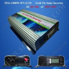 Easy installation on grid dc 45-90v to ac 110v 1500w solar panel converter