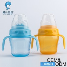 wholesale manufacturer 180 ml wide-neck PP unique adult baby milk bottle