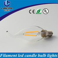UL CE approval 360 degree b15 e12 e14 5000k 6w led flame candle light bulbs