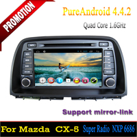 Android quad core multimedia for mazda cx-5 2014 in dash car dvd gps system wifi 3G/4G SWC MP3 mirror link 2 years warranty