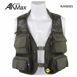 Military Style Fishing Vest With Multi Pocket