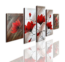 Original Design Outer Wall Decoration Modern Flower Painting