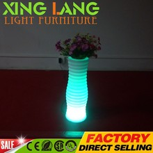 Hot selling 3D Battery Power Source remote control switch Plastic led lighted vase for promotional project