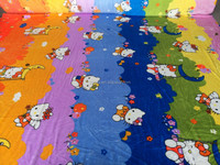 very soft printed double-sided flannel fabric for blanket or bed sheet