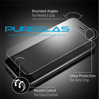 Pureglas full size covered 2.5D curved glass protector for iphone screen 5s tempered glass film