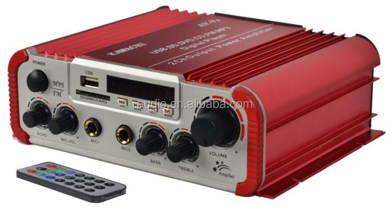 Mini amplificateur av-v8 maison avec télécommande