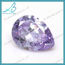 Wholesale pear cut violet artificial diamond zircon price