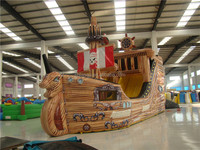 Cheap Customized Kid's Giant Inflatable Pirate Ship