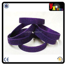 Purple Awareness Wristband Bracelets Lot 50 Pieces Cancer Causes Silicone New