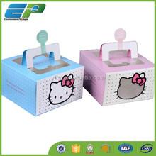 Handmade Kraft Different Designs Recycled Paper Cake Box
