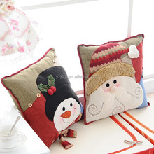 Fashion cartoon patchwork christmas cushion
