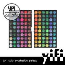Hot sale YIFI factory wholesale 120 colors waterproof shimmer eye shadow