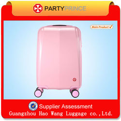 Famous Newest Design ABS PC Hardside Pink Girls Travel Luggage Factory In China