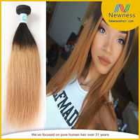 2015 New arrival 100 virgin brazilian virgin hair big stock best services two tone remy top quality virgin human hair extension