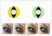green cat eyes design fashion cosplay crazy contact lens