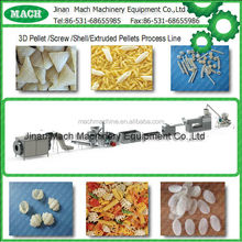 Extruded pellet frying food making machines for screw /shell/chips